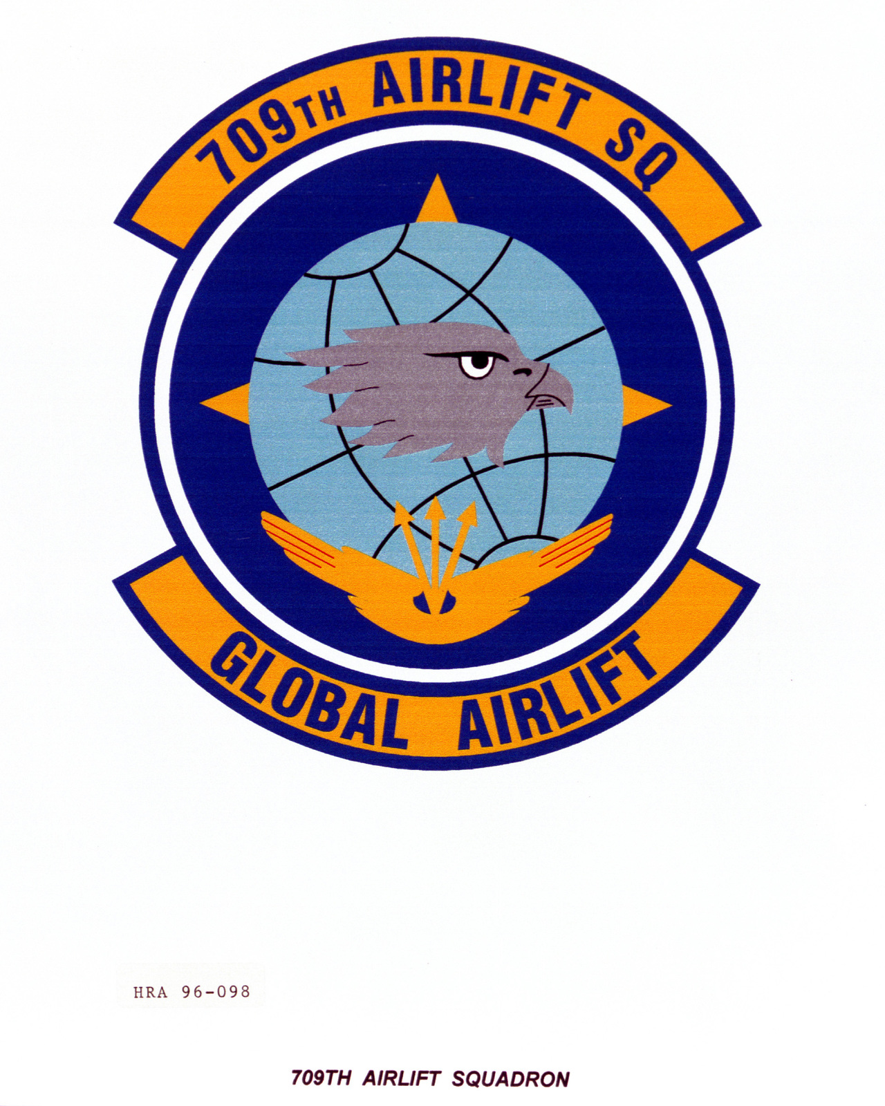 Air Force Organizational Emblem. 709th Airlift Squadron Exact Date Shot Unknown