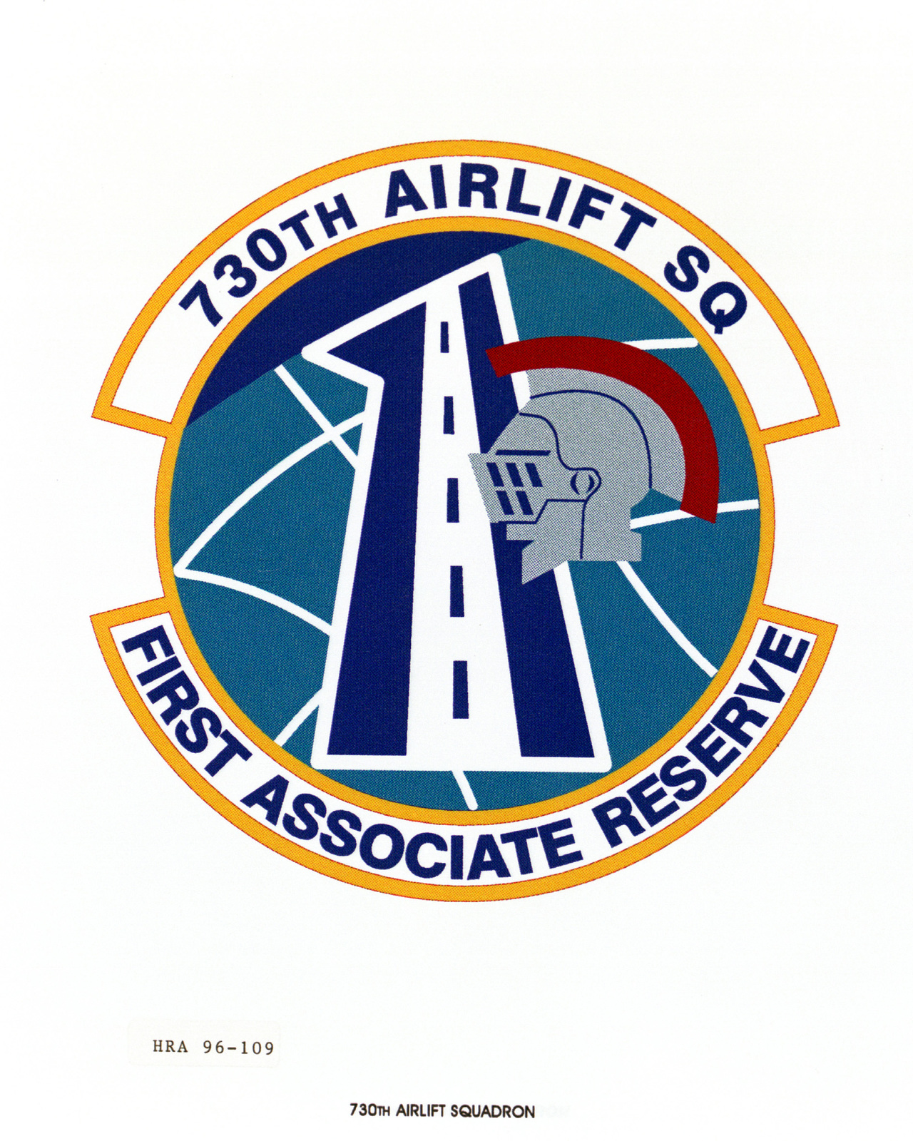 Air Force Organizational Emblem. 730th Airlift Squadron Exact Date Shot Unknown