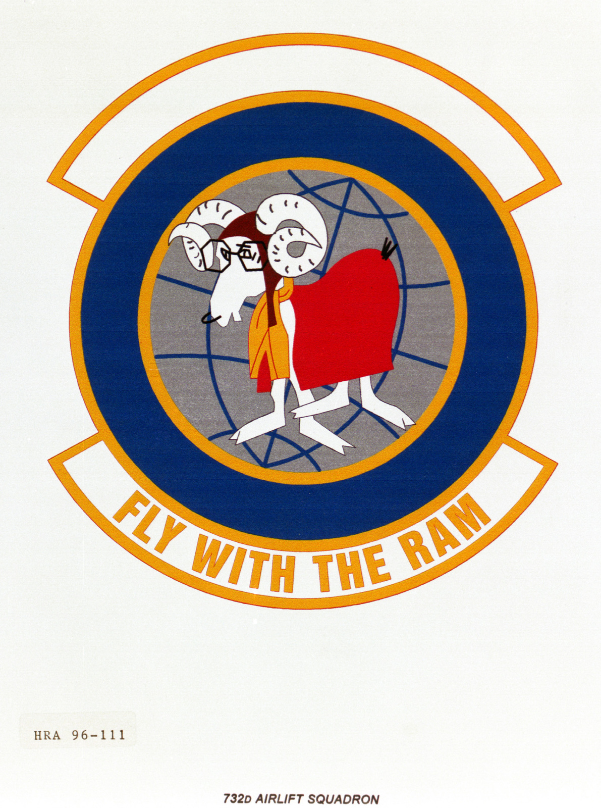 Air Force Organizational Emblem. 732nd Airlift Squadron Exact Date Shot Unknown