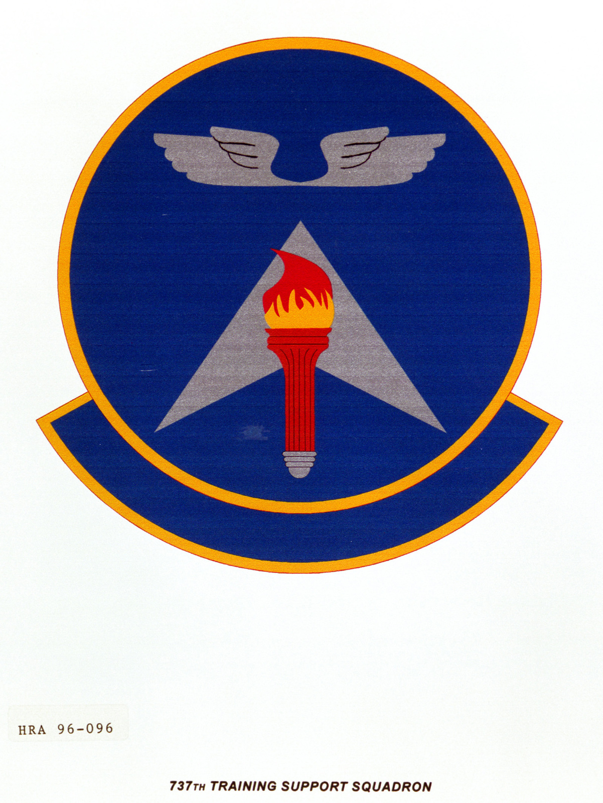Air Force Organizational Emblem. 737th Training Support Squadron Exact Date Shot Unknown