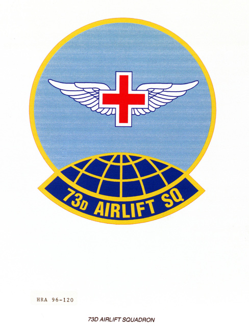 Air Force Organizational Emblem. 73rd Airlift Squadron Exact Date Shot Unknown