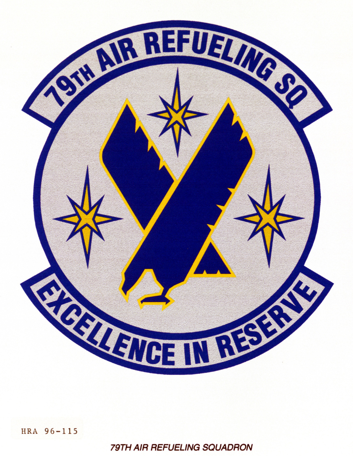 Air Force Organizational Emblem. 79th Air Refueling Squadron Exact Date Shot Unknown
