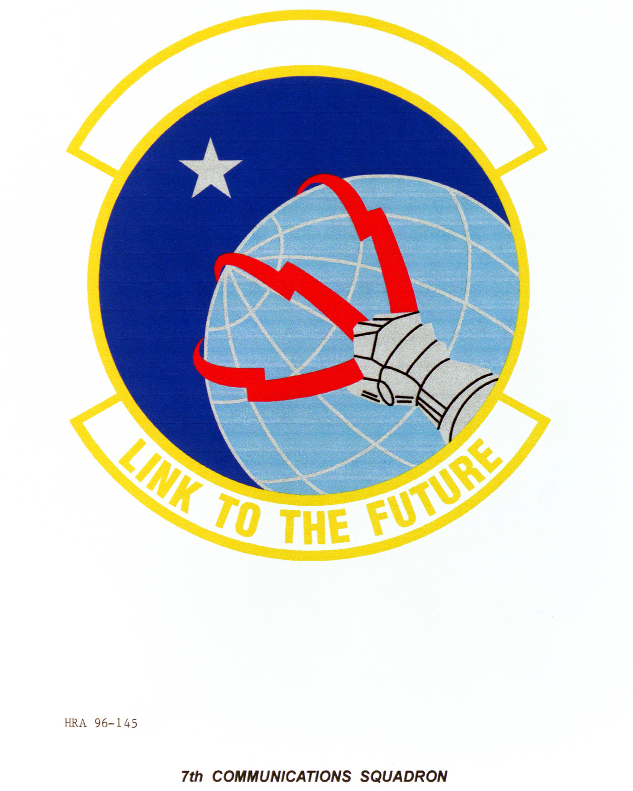 Air Force Organizational Emblem. 7th Communications Squadron Exact Date Shot Unknown