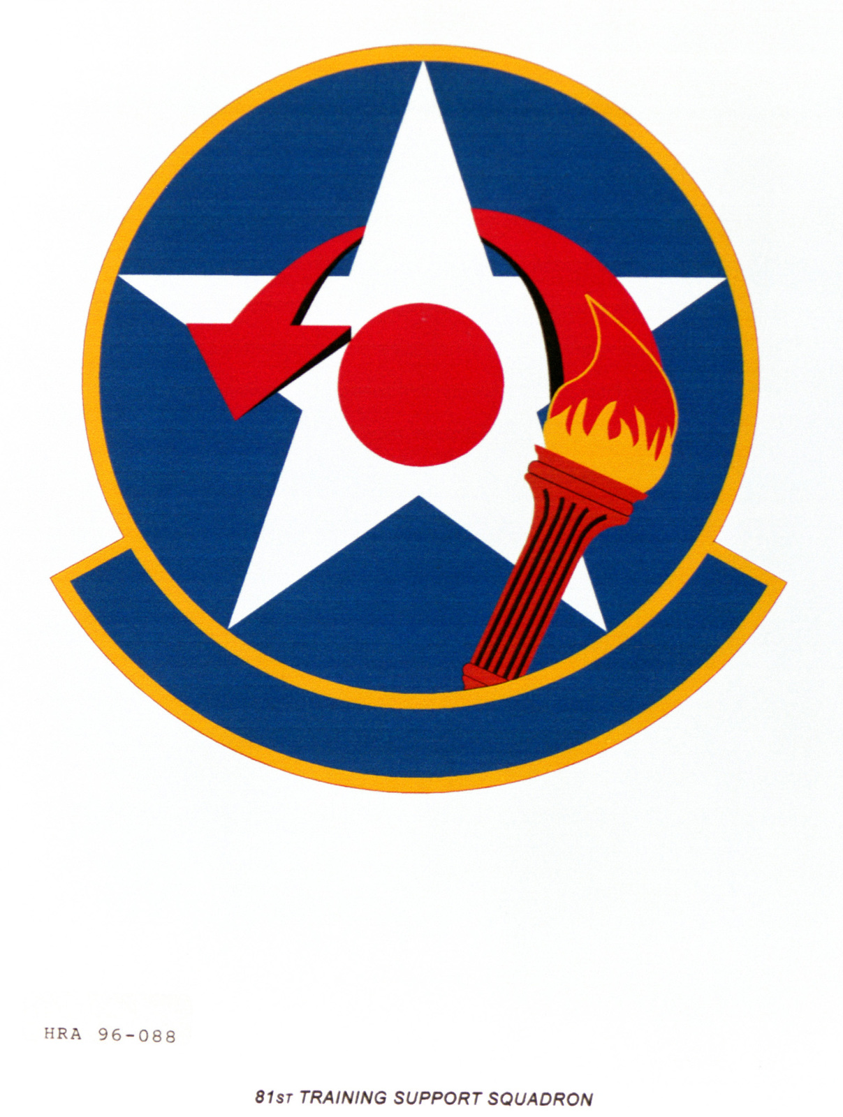 Air Force Organizational Emblem. 81st Training Support Squadron Exact Date Shot Unknown