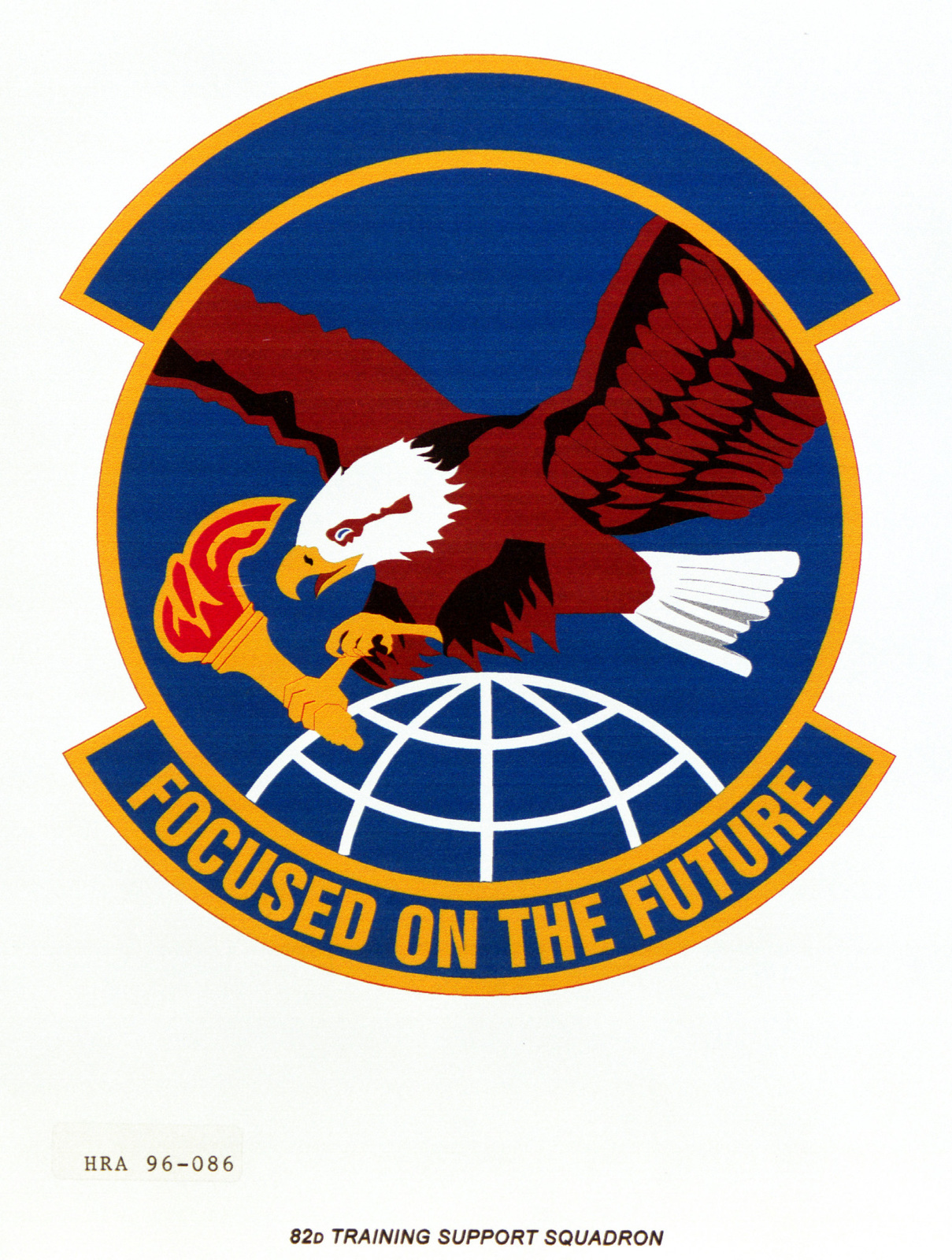 Air Force Organizational Emblem. 82nd Training Support Squadron Exact Date Shot Unknown