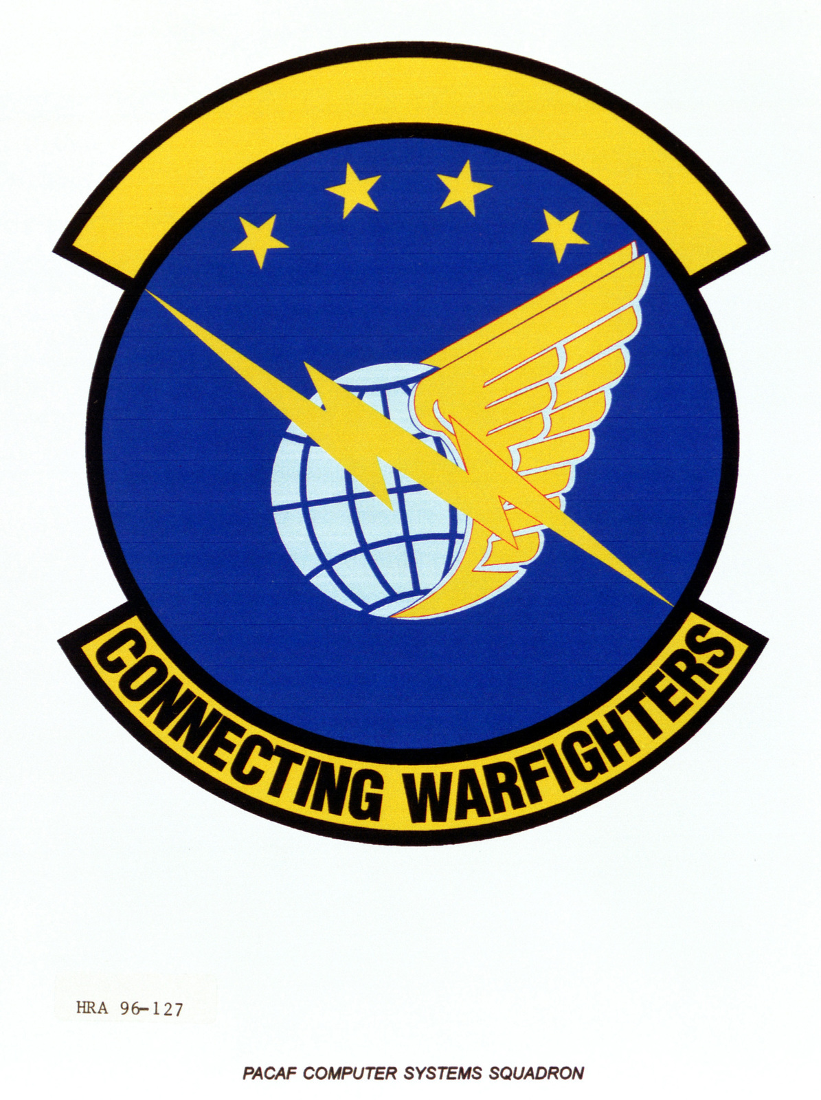 Air Force Organizational Emblem. PACAF Computer Systems Squadron Exact Date Shot Unknown