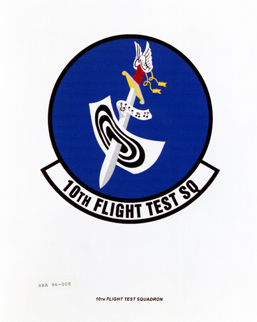 Approved insignia for the 10th Flight Test Squadron Exact Date Shot Unknown
