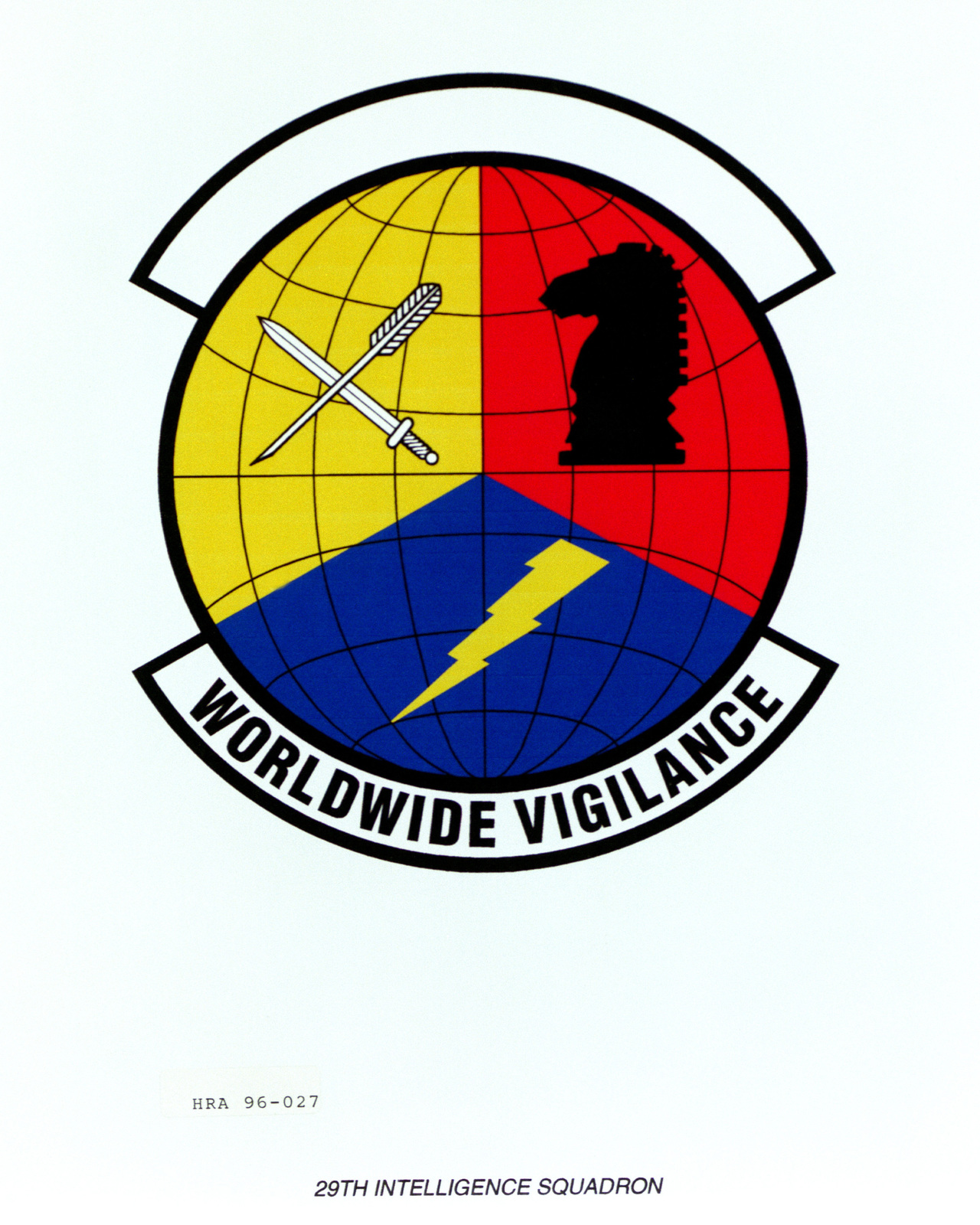 Approved insignia for the 29th Intelligence Squadron Exact Date Shot Unknown