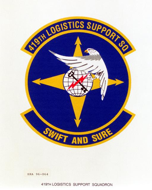 Approved insignia for the 419th Logistics Support Squadron Exact Date Shot Unknown