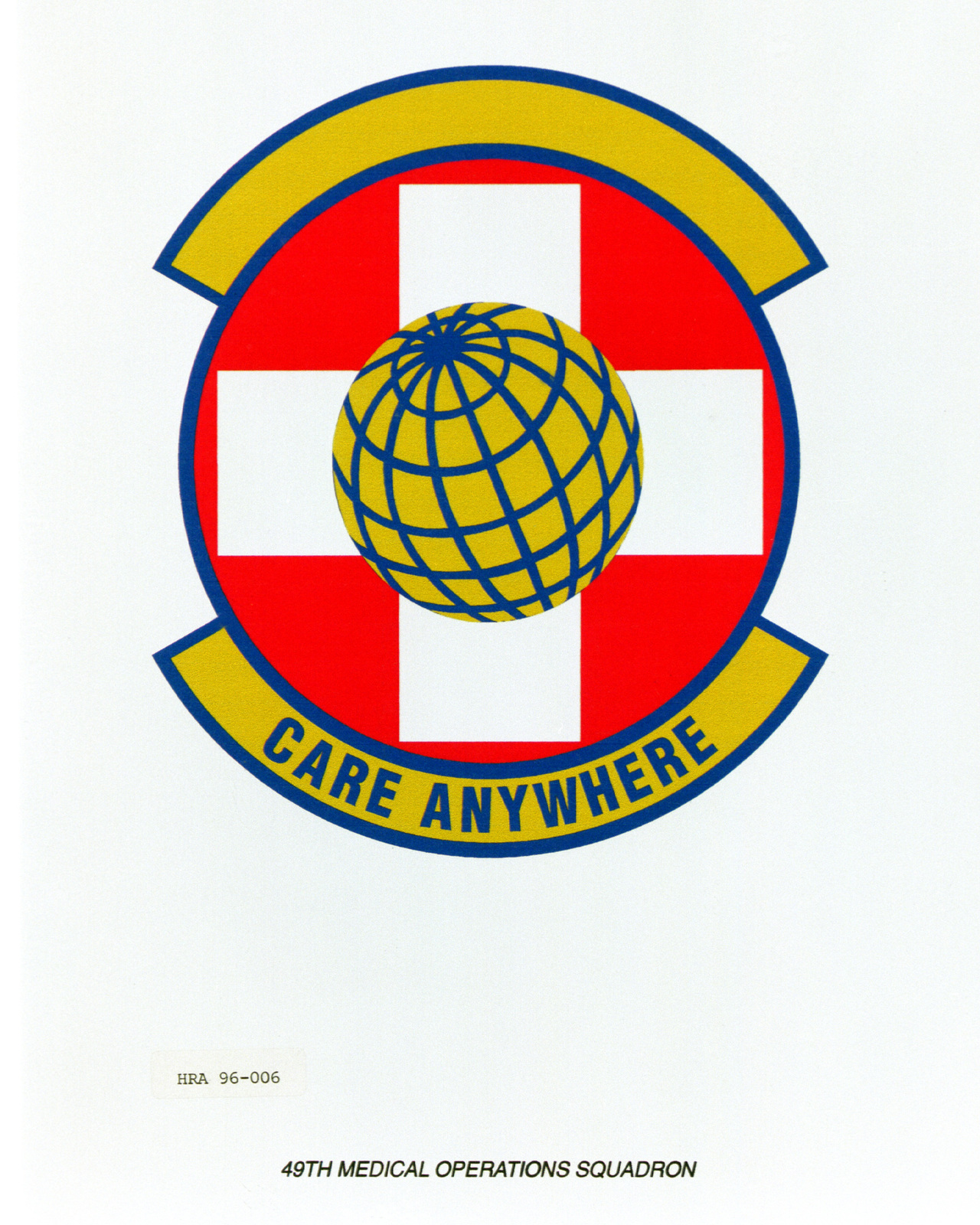 Approved insignia for the 49th Medical Operations Squadron Exact Date Shot Unknown