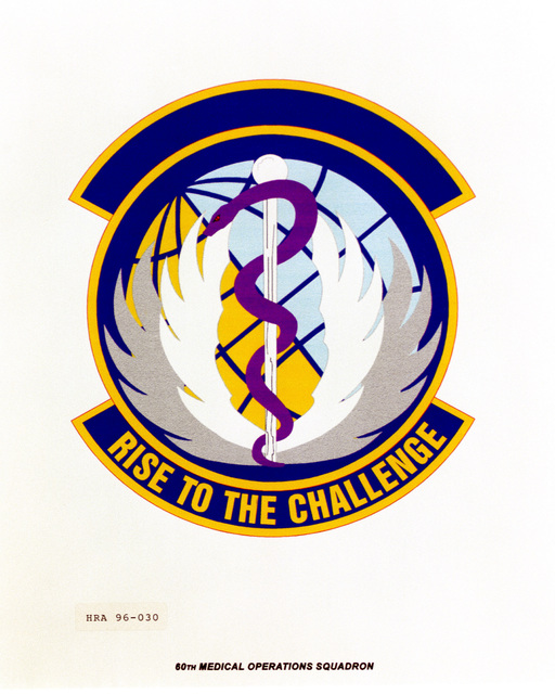 Approved insignia for the 60th Medical Operations Squadron Exact Date Shot Unknown