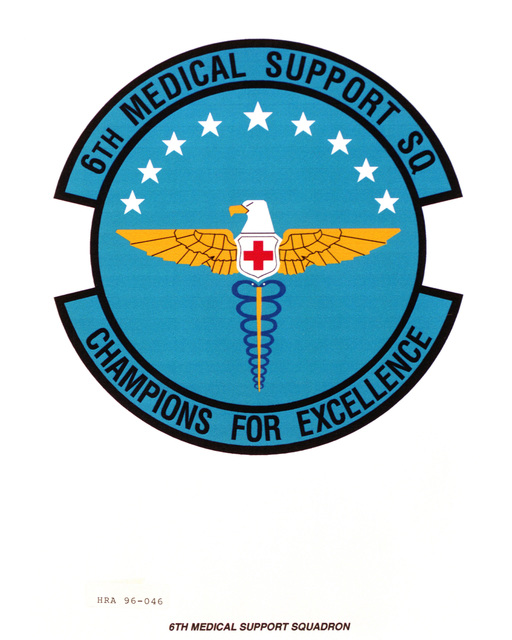 Approved insignia for the 6th Medical Support Squadron Exact Date Shot Unknown