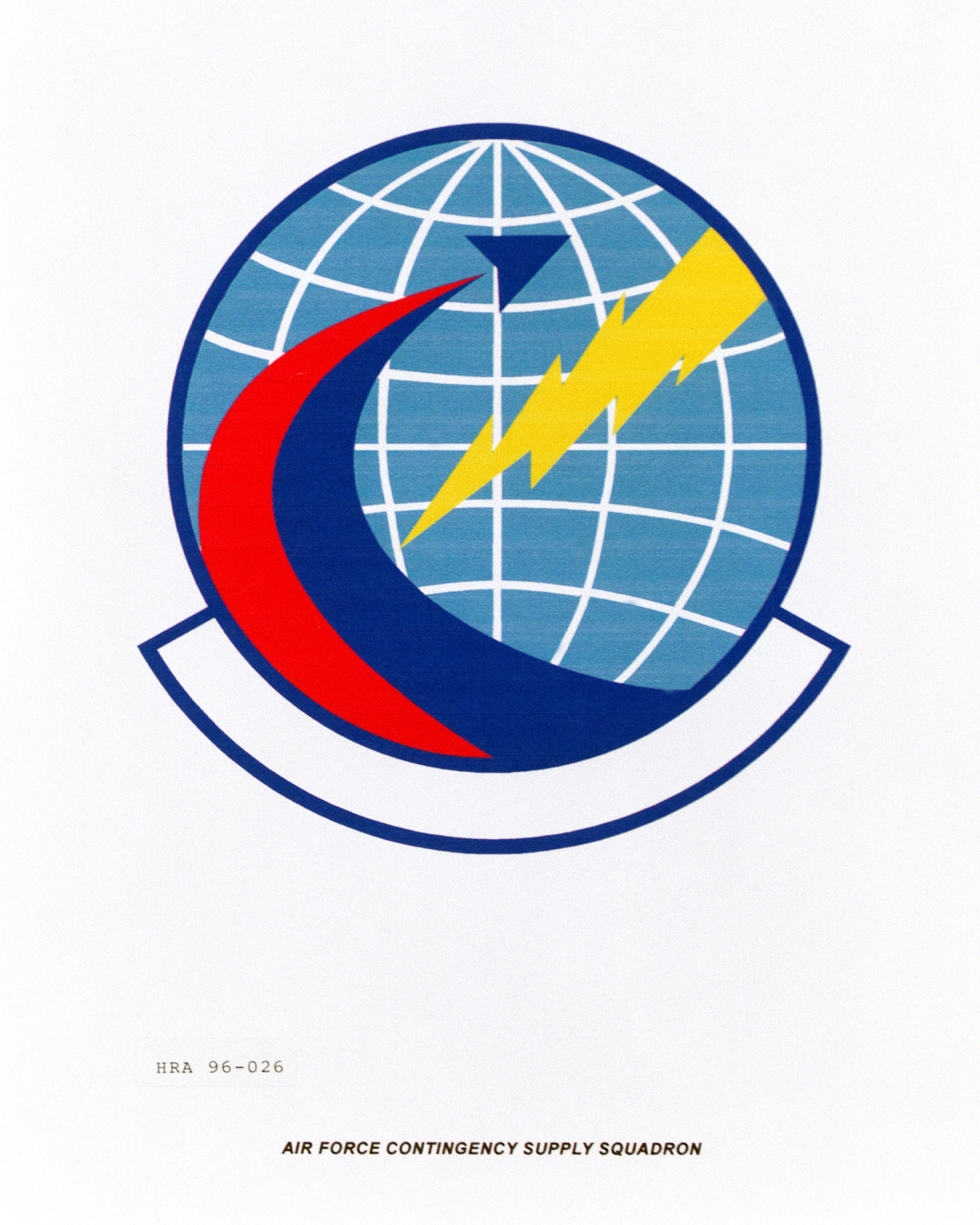 Approved insignia for the Air Force Contingency Supply Squadron Exact Date Shot Unknown