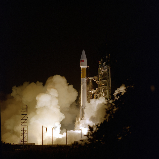 The first Atlas launch from the Eastern Range for 1996 successfully lifted off from CX 36B, at 8:15 p.m. EST. The Lockheed Martin Astronautics Atlas IIAS, designated AC-126, was carrying the Palapa C1 communications satellite
