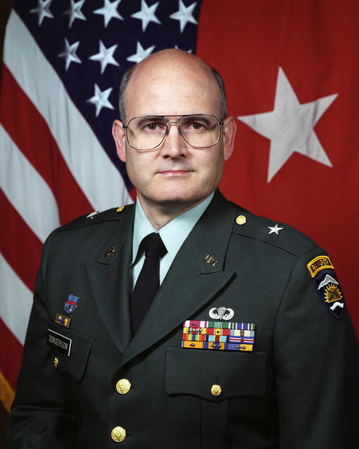 Portrait of U.S. Army Brig Gen. James V. Torgerson Deputy Commander, State Area Command, and Commander, (Troop Command), Oregon Army National Guard (ORANG) (Uncovered) (U.S. Army photo by Mr. Scott Davis)