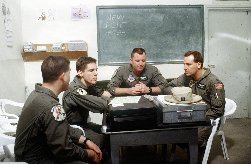 Aircrew members of a KC-135 aircraft from the 96th Air Refueling ...