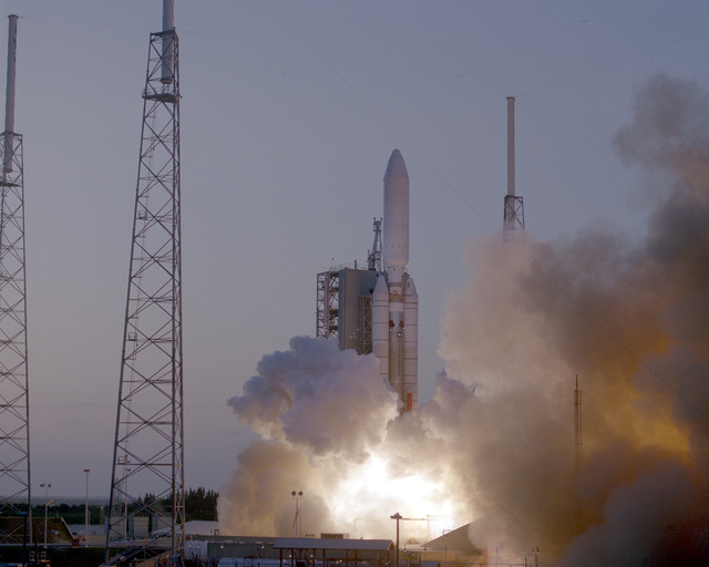 The United States Air Force successfully launched a Titan IV/Centaur from launch complex 41 at Cape Canaveral Air Station, Florida. The first Titan launch for 1996 lifted off at 7:37 p.m., EDT