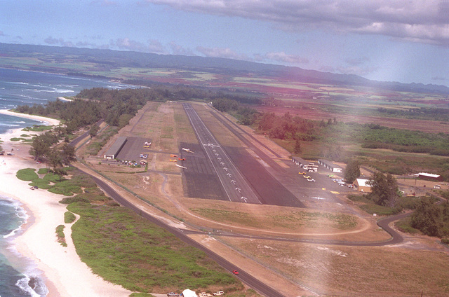 Dillingham Air Field on the northwest corner of the island is a former Air Force fighter base. It is now used by the Air Force parachute team and flying club as a training site. The 9,000 runway is also available to all the services as an emergency subsidiary landing site