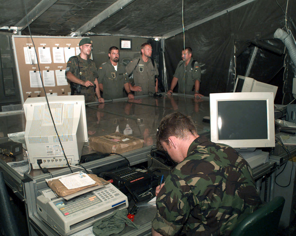 Interior Shot Of The Operations Room Or Bird Table At The Allied Rapid Reaction Corps Tactical Headquarters Sight In Jelah Bosnia And Herzegovina U S National Archives Public Domain Image