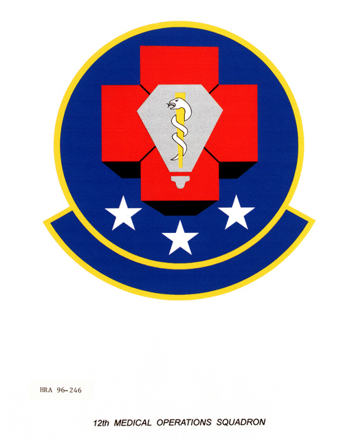 Air Force Organizational Emblem: 12th Medical Squadron, Air Education and Training Command (AETC ) Exact Date Shot Unknown