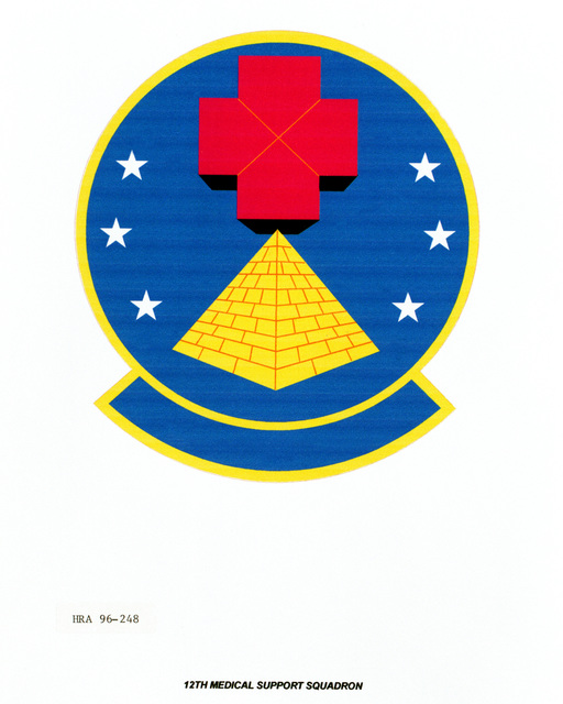 Air Force Organizational Emblem: 12th Medical Support Squadron, Air Education and Training Command (AETC ) Exact Date Shot Unknown