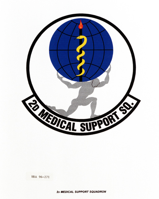 Air Force Organizational Emblem: 2nd Medical Support Squadron, Air Combat Command (ACC ) Exact Date Shot Unknown