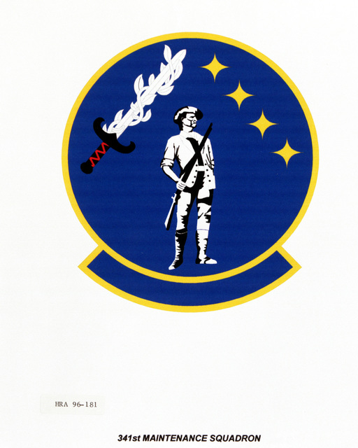 Air Force Organizational Emblem: 341st Maintenance Squadron, Air Force Security Police Command (AFSPC ) Exact Date Shot Unknown