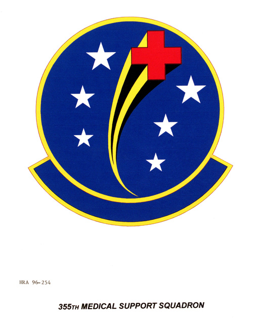 Air Force Organizational Emblem: 355th Medical Support Squadron, Air Combat Command (ACC ) Exact Date Shot Unknown