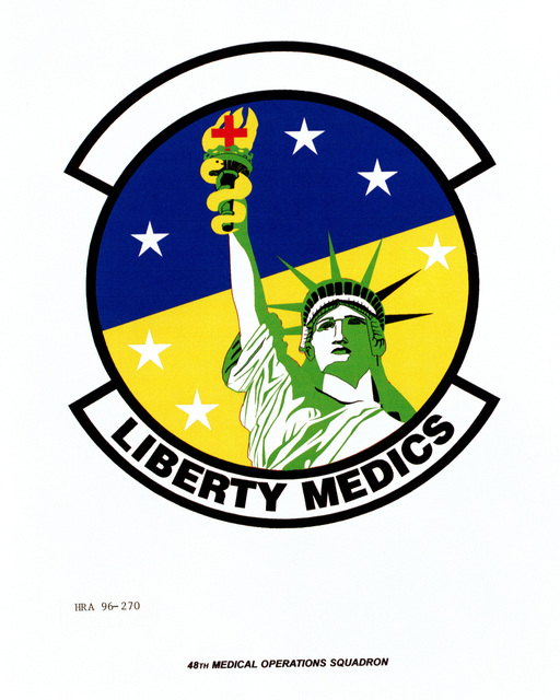 Air Force Organizational Emblem: 48th Medical Operations Squadron, U.S. Air Force Europe (USAFE ) Exact Date Shot Unknown