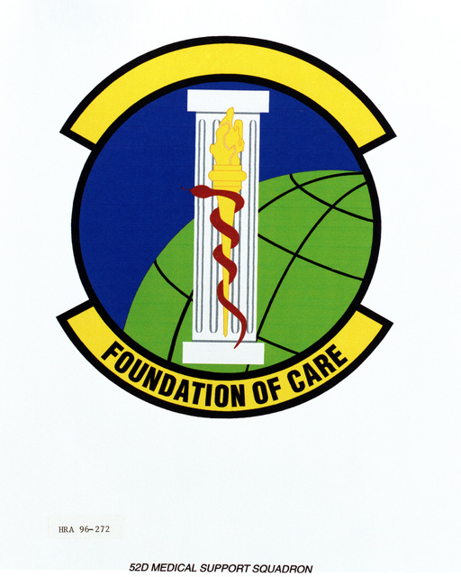 Air Force Organizational Emblem: 52nd Medical Support Squadron, U.S. Air Force Europe (USAFE ) Exact Date Shot Unknown