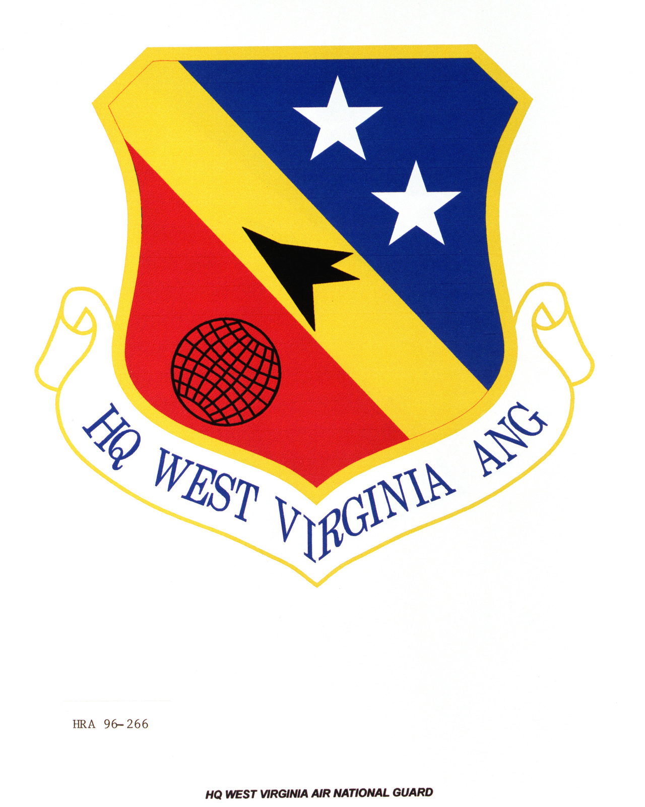 Air Force Organizational Emblem: Hq West Virginia Air National Guard (WV ANG ) Exact Date Shot Unknown