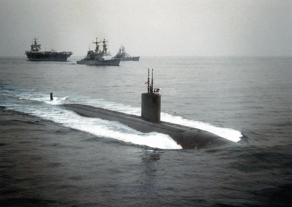 The US Navy's nuclear powered Los Angeles class fast attack submarine, USS JEFFERSON CITY (SSN 759) (