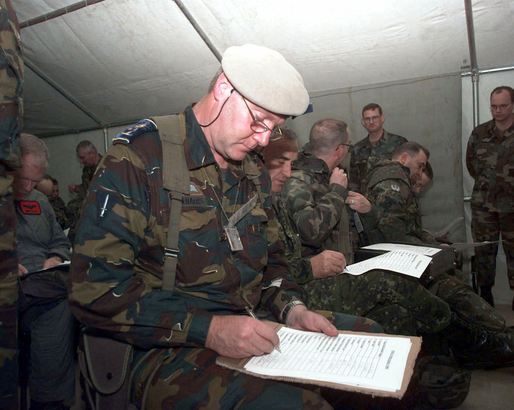 military briefing