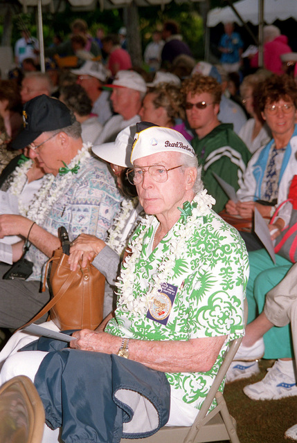 A survivor of the attack on Pearl Harbor, Mr. Keith Hill, at the USS ARIZONA Memorial Visitor Center, Pearl Harbor, HI. Mr. Hill was aboard the USS WEST VIRGINIA during the Pearl Harbor attack