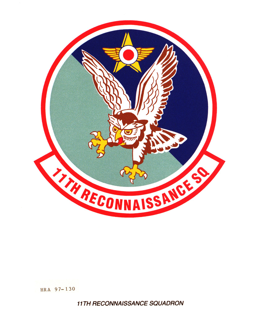 Air Force Organizational Emblem: 11th Reconnaissance Squadron, Air Combat Command Exact Date Shot Unknown