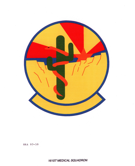 Air Force Organizational Emblem: 161st Medical Squadron, Arizona Air National Guard Exact Date Shot Unknown