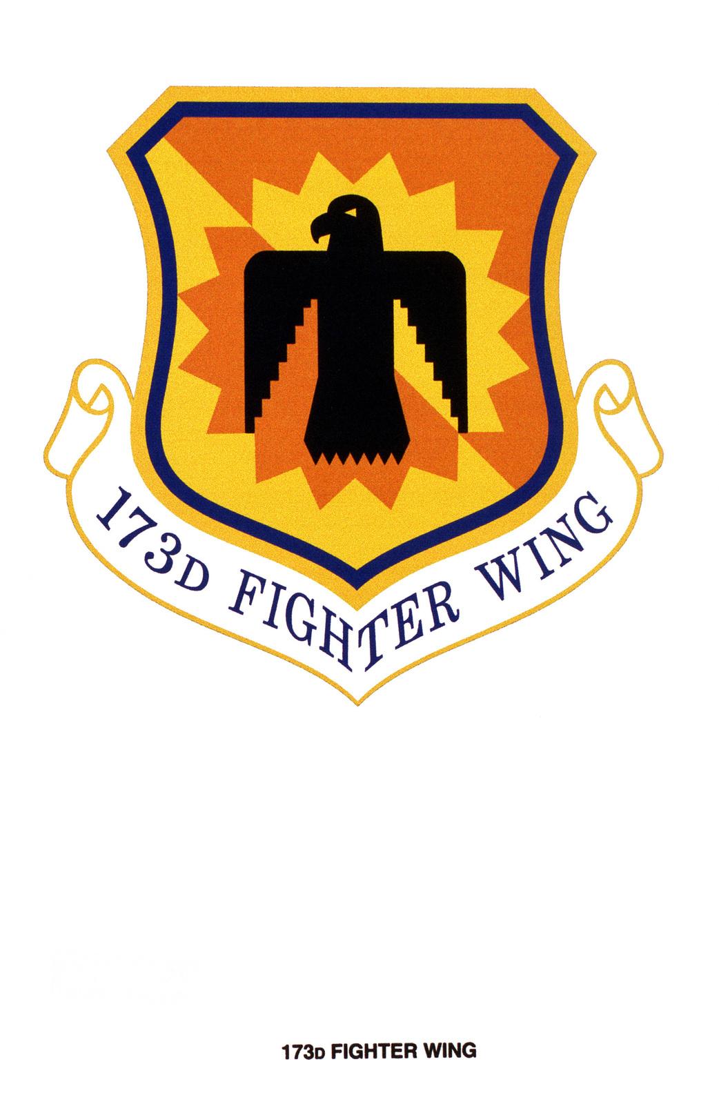 Air Force Organizational Emblem: 173rd Fighter Wing, Oregon Air National Guard
