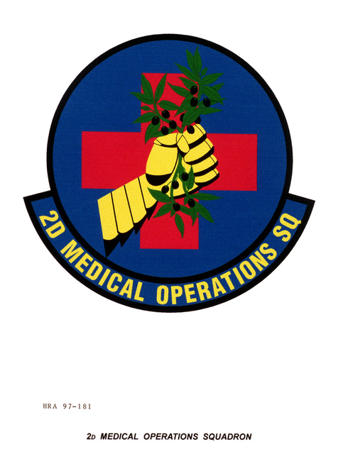Air Force Organizational Emblem: 2nd Medical Operations Squadron, Air Combat Command