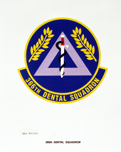 Air Force Organizational Emblem: 366th Dental Squadron, Air Combat Command Exact Date Shot Unknown