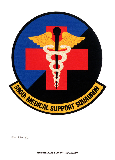 Air Force Organizational Emblem: 366th Medical Support Squadron, Air Combat Command