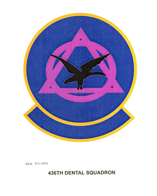 Air Force Organizational Emblem: 436th Dental Squadron, Air Mobility Command Exact Date Shot Unknown