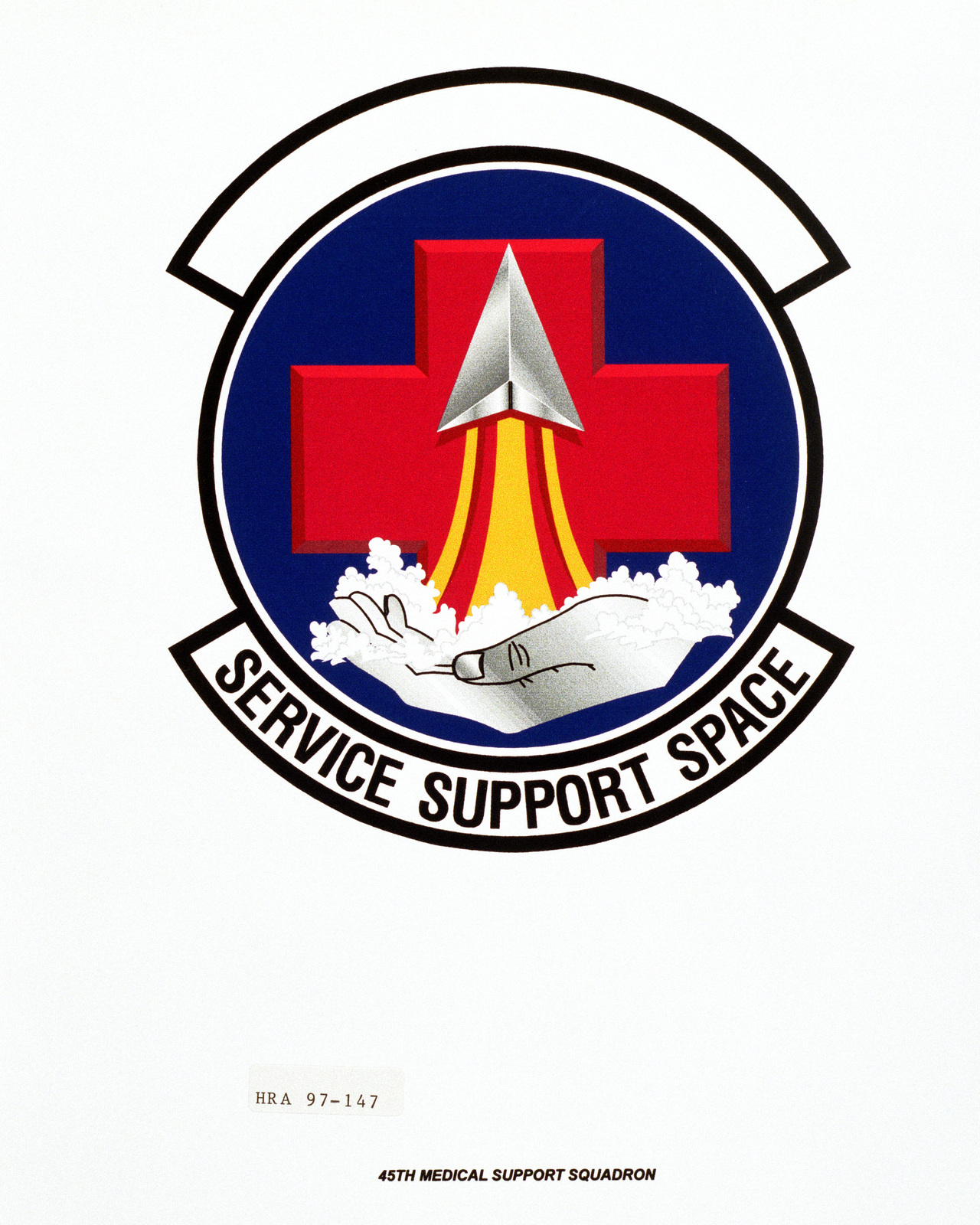 Air Force Organizational Emblem: 45th Medical Support Squadron, Air Force Space Command Exact Date Shot Unknown
