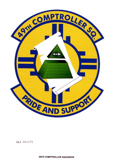 Air Force Organizational Emblem: 49th Comptroller Squadron, Air Combat Command