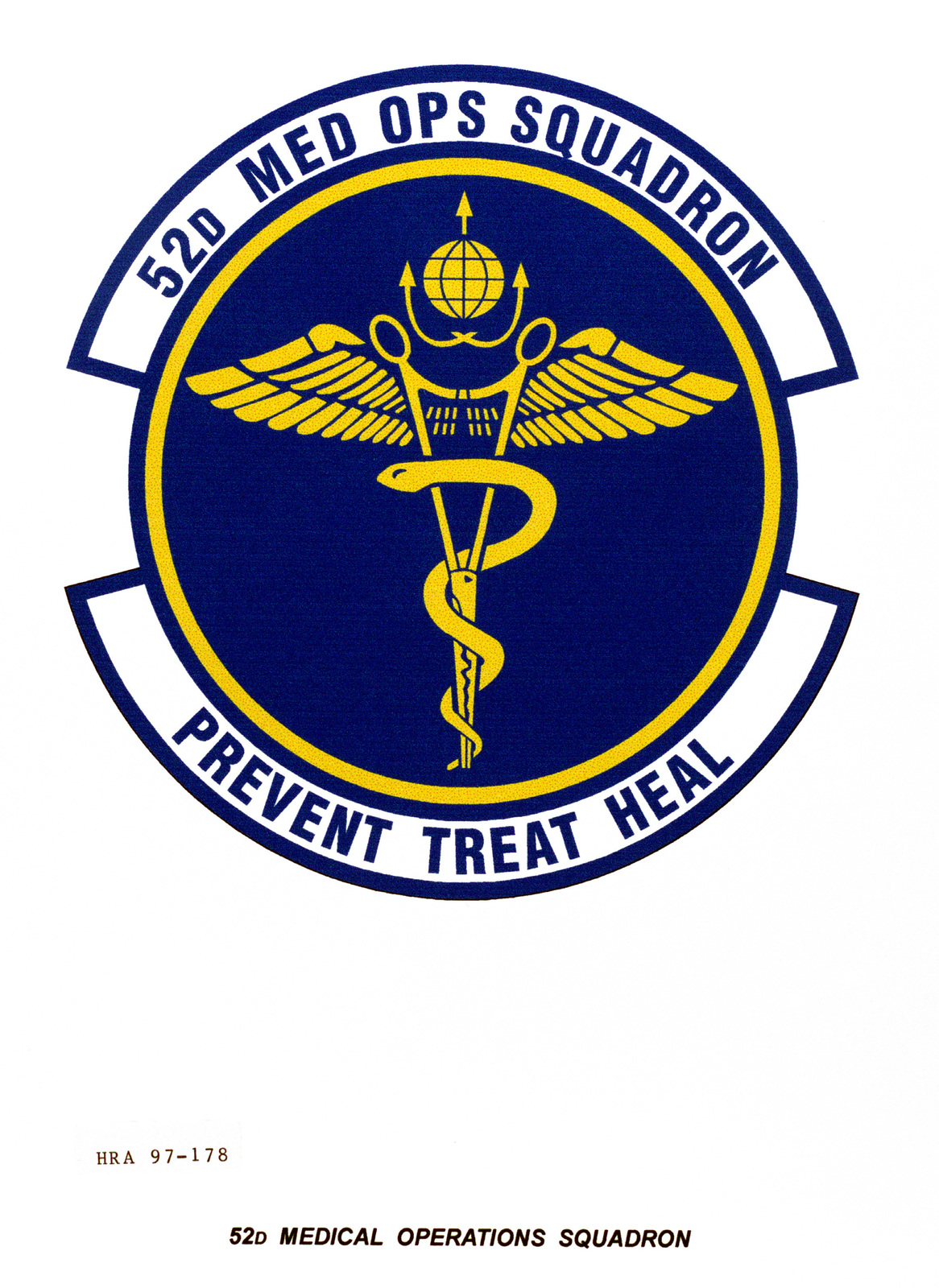 Air Force Organizational Emblem: 52nd Medical Operations Squadron, United States Air Forces in Europe