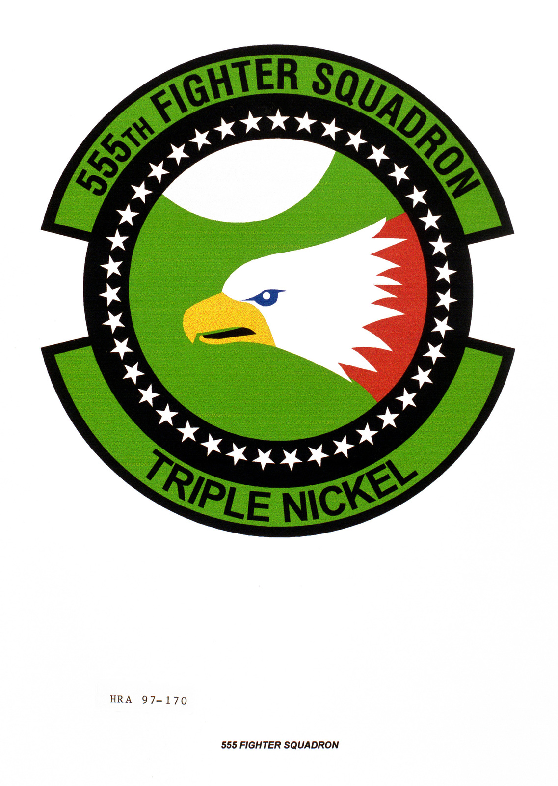 Air Force Organizational Emblem: 555th Fighter Squadron, United States Air Forces in Europe