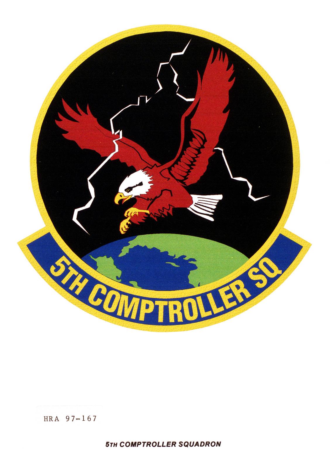 Air Force Organizational Emblem: 5th Comptroller Squadron, Air Combat Command