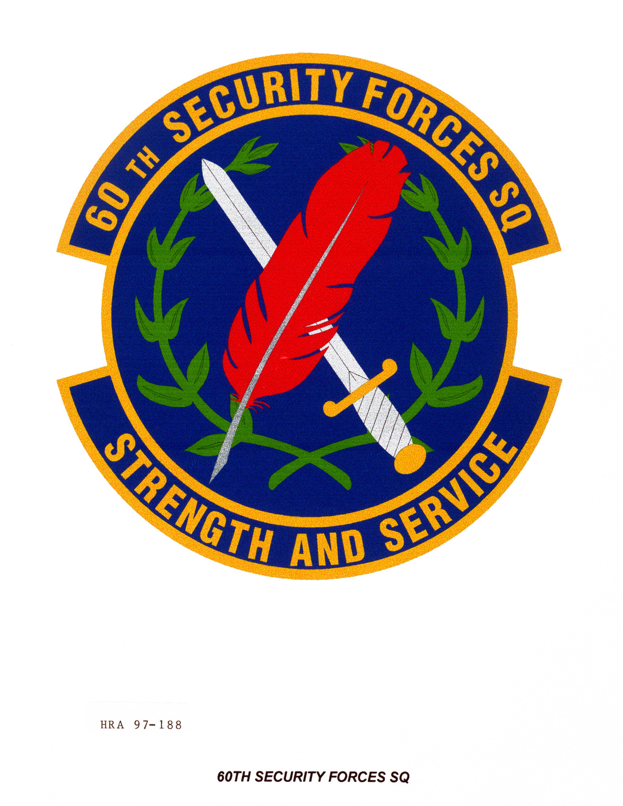 Air Force Organizational Emblem: 60th Security Forces Squadron, Air Mobility Command