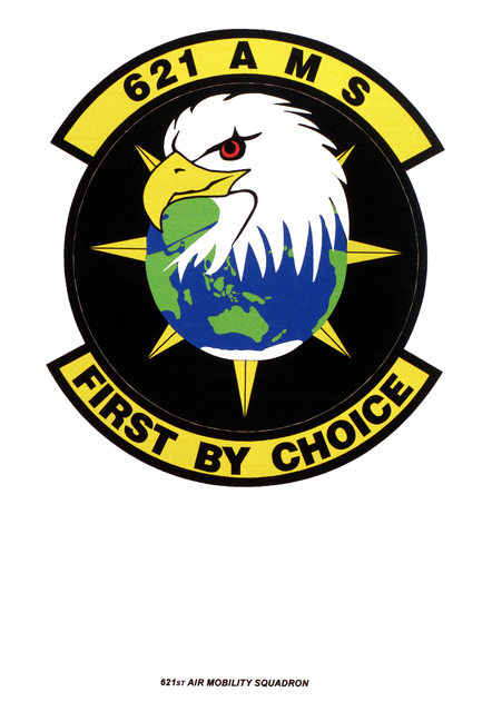 Air Force Organizational Emblem: 621st Air Mobility Squadron, Air Mobility Command