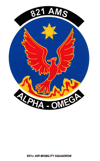 Air Force Organizational Emblem: 821st Air Mobility Squadron, Air Mobility Command