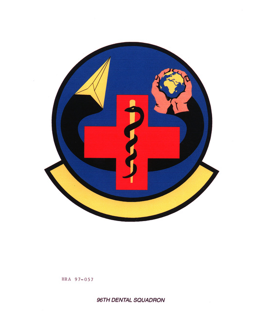 Air Force Organizational Emblem: 96th Dental Squadron, Air Force Material Command Exact Date Shot Unknown